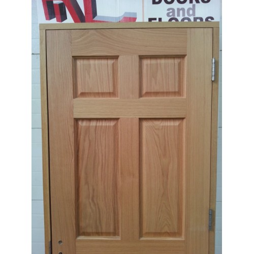 Prehung 6 Panel Oak Door Set