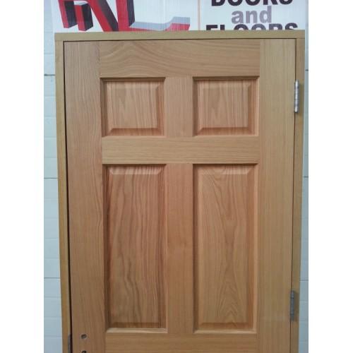 Prehung 6 Panel Oak Door Set