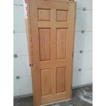 Pre Hung 6 Panel Oak Door Set