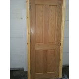 Pre Hung 4 Panel Oak Door with Red Deal Frame set