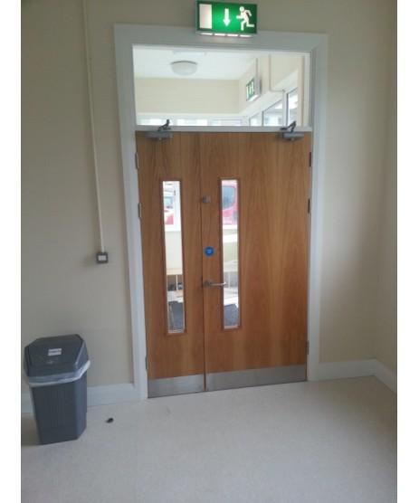 Pre Hung Flush Oak Fire Door set