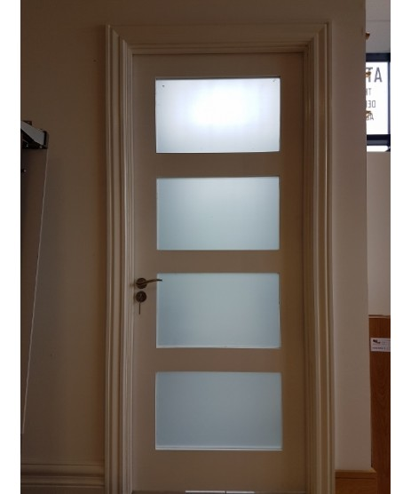 Deanta HP1G Primed White Door Frosted Glass