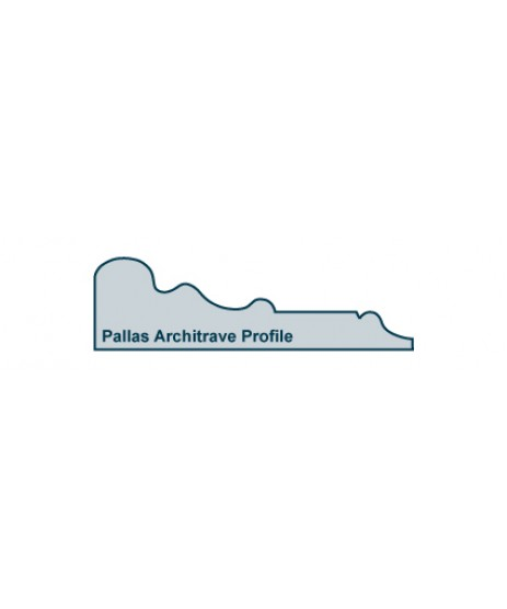 Primed Architrave Pallas inc Plinth Block
