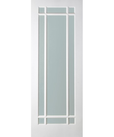 Deanta NM5G Glazed primed white door
