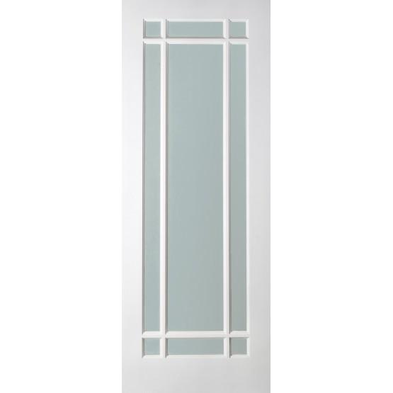 Arizona Primed finish Glass Door