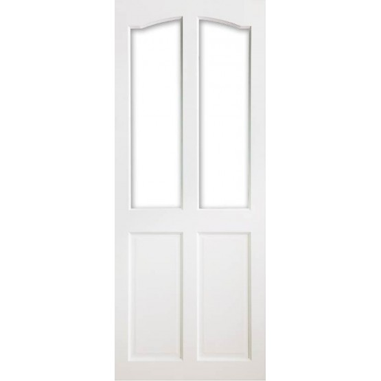 Deanta VR2G Primed White Door (Unglazed)