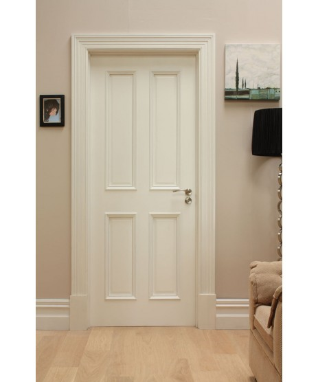 Deanta WR1 Primed White 4 Panel Door
