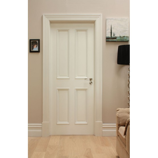 Deanta WR1 Primed White 4 Panel Door