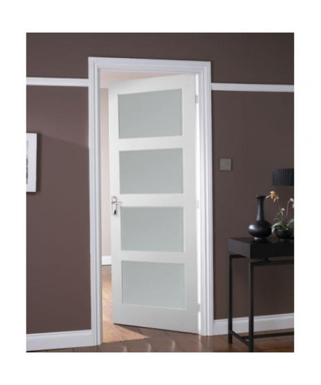 Augusta Primed White Door 4 Panel Shaker