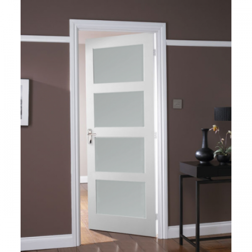 Augusta primed white door 4 panel for 5 panel frosted glass interior door