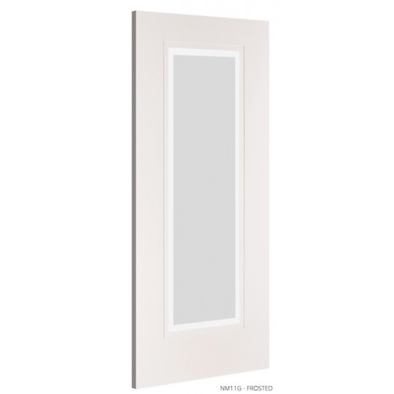 Deanta NM11G Frosted Glass Primed Door