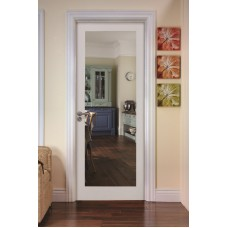 Deanta NM6G Primed Shaker Door Clear Glass