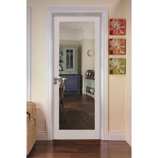 Deanta NM6G Primed Shaker Door Clear Glass