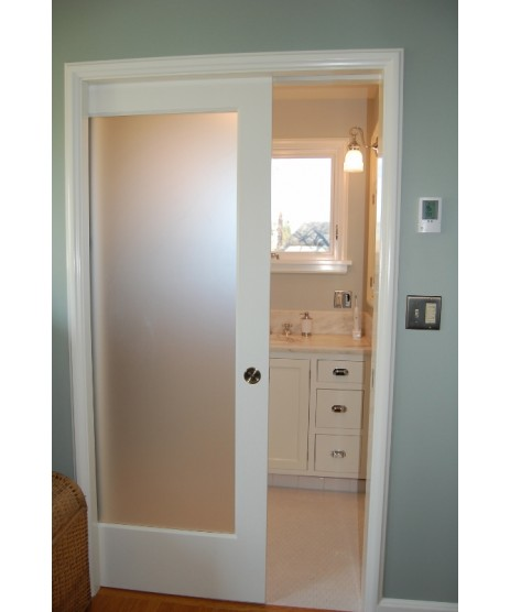 Deanta NM6G Primed Shaker Door Frosted Glass