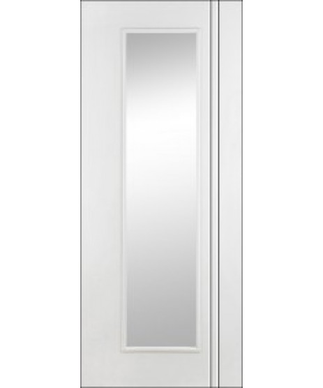 Doras Unicorn Primed White Glass Door