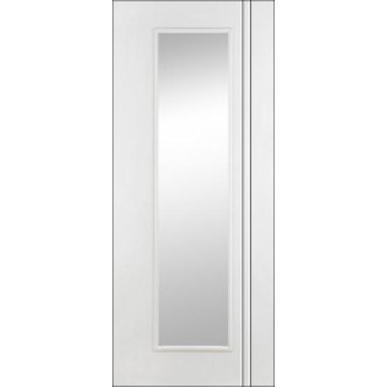 Doras Unicorn Primed White Glass Door