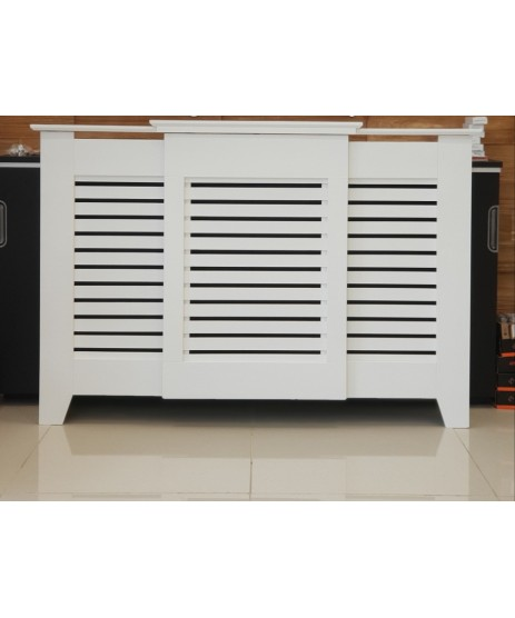 Radiator Cover Contemporary White Adjustable 1430mm-2000mm