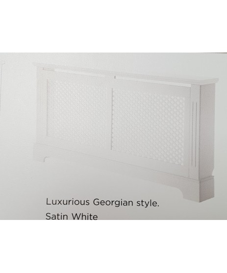 Radiator Cover Georgian White Large