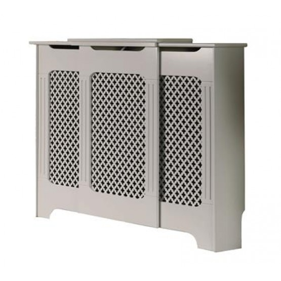 Radiator Cover Classic White Adjustable 975mm-1425mm