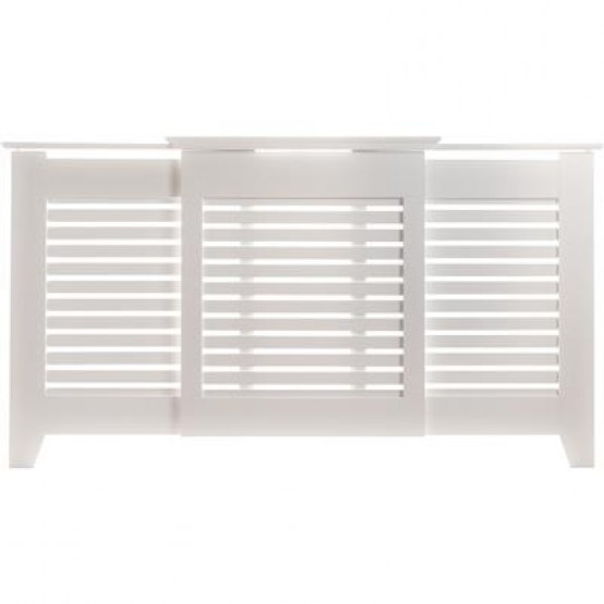 Radiator Cover Contemporary White Adjustable 975mm-1425mm