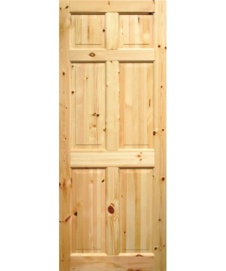 Seadec Westport Red Pine Door 6 Panel