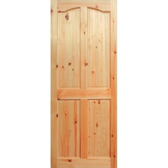 Red Pine Door 4 Panel Curve Top belfast