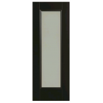 Doras Amsterdam 1P 1Lite Opal Frosted Black Finish Door