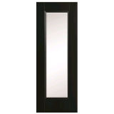 Doras Amsterdam 1P 1 Lite Clear Glass Black Finish Door