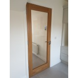 Cheshire Oak Clear Glass Door