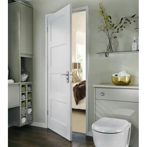 Charmant Augusta Primed White Door 4 Panel Shaker