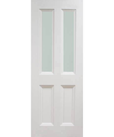 Oxford White primed Door Unglazed