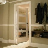 Columbus White Primed Door Clear Glass