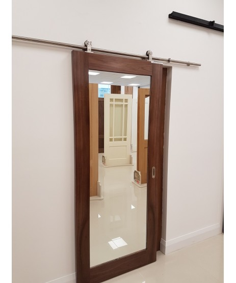 Walnut shaker Mirror Door