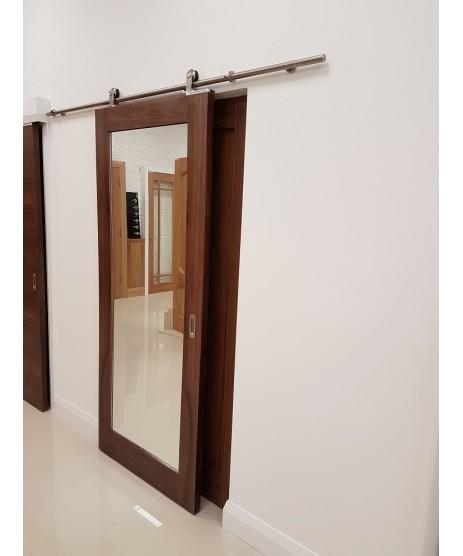 Walnut shaker Mirror Door