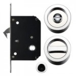 FB81CP Sliding Door Lock Set