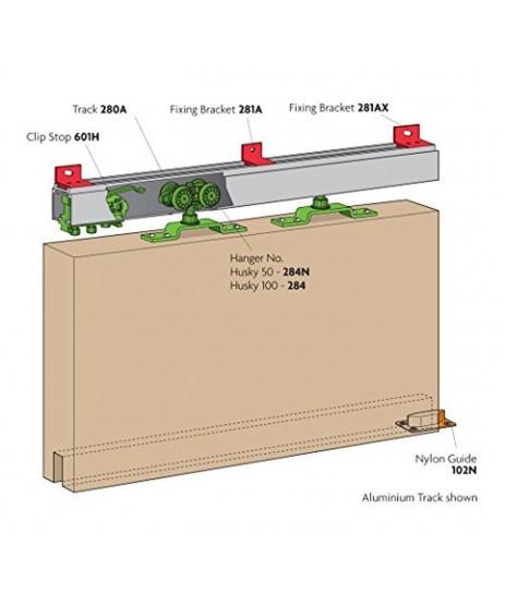 Henderson Husky 100 Sliding Rail Track 1.8mtr