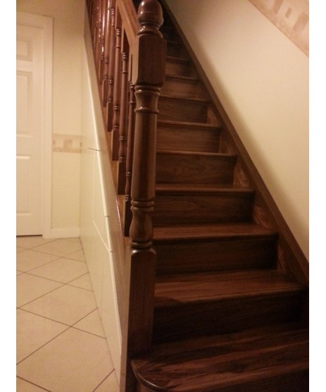 Single Walnut Bullnose Step