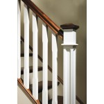Primed White Box Newel post