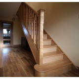 Chamfered Oak Newel Post 91x91x1525mm