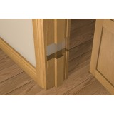 Solid White Oak 30 Minute Fire Door Liner (inc Square Door Stop)