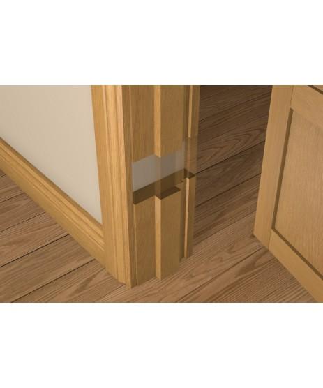 Solid Oak 30 Minute Fire Door Liner (inc Square Door Stop)