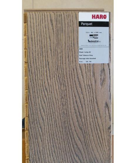 HARO Parquet 4000 Plank 1-Strip Oak Tobacco Grey 4V Retro Naturalin