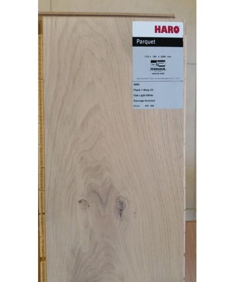 HARO Parquet 4000 Plank 1-Strip Oak Sauvage Light White 2V Permadur Varn