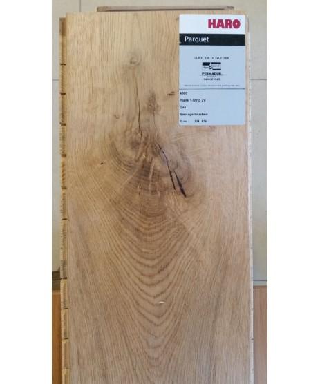 HARO Parquet 4000 Plank 1-Strip Oak Sauvage 2V Permadur Varn