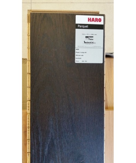 HARO Parquet 4000 Plank 1-Strip African Oak Permadur Varn
