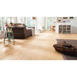 HARO Parquet 4000 Plank 1-Strip Oak Sauvage Light White 2V Permadur Varn
