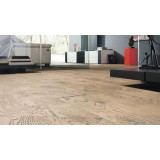 HARO Parquet 4000 Plank 1-Strip Oak Tobacco Grey 4V Retro Naturalin
