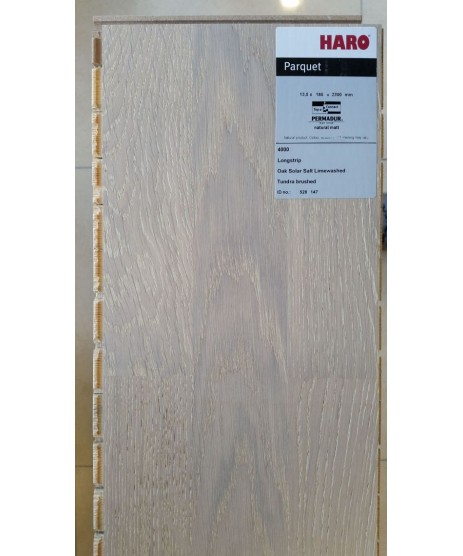 HARO Parquet 4000 3-Strip Oak Solar Salt Tundra