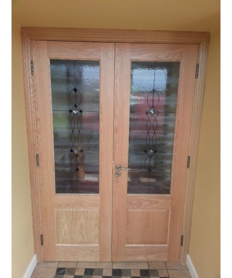 Deanta Oak Glazed Doors