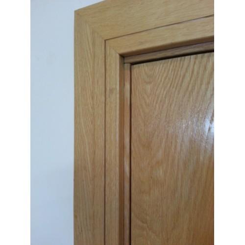 Oak frame architrave shaker set engineered for Door architrave